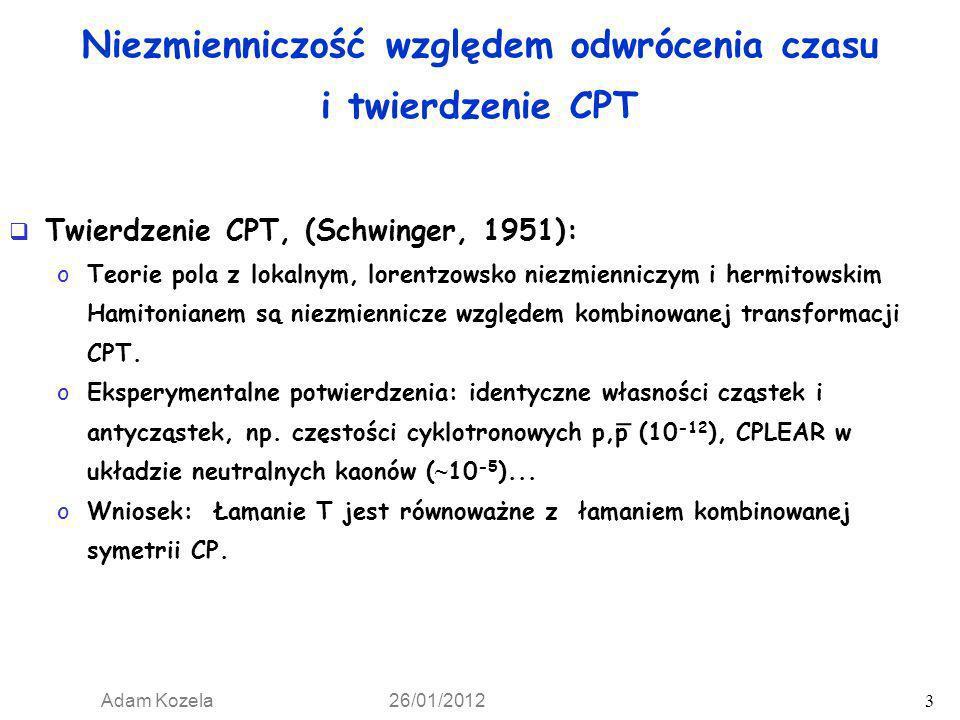 Niezmienniczość względem odwrócenia czasu i twierdzenie CPT