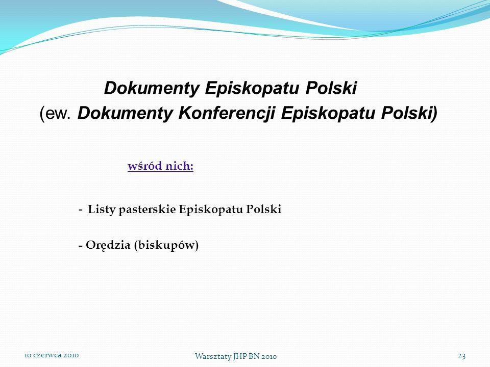 Dokumenty Episkopatu Polski