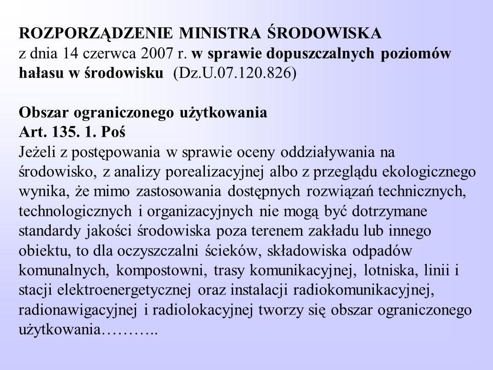 ROZPORZĄDZENIE MINISTRA ŚRODOWISKA z dnia 14 czerwca 2007 r