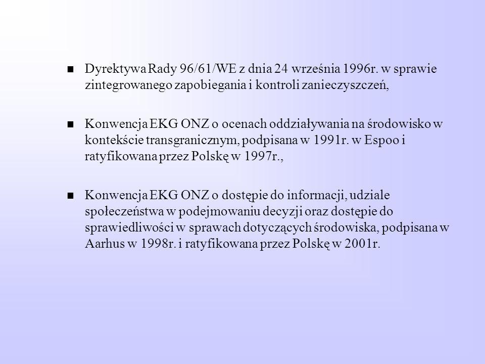 Dyrektywa Rady 96/61/WE z dnia 24 września 1996r