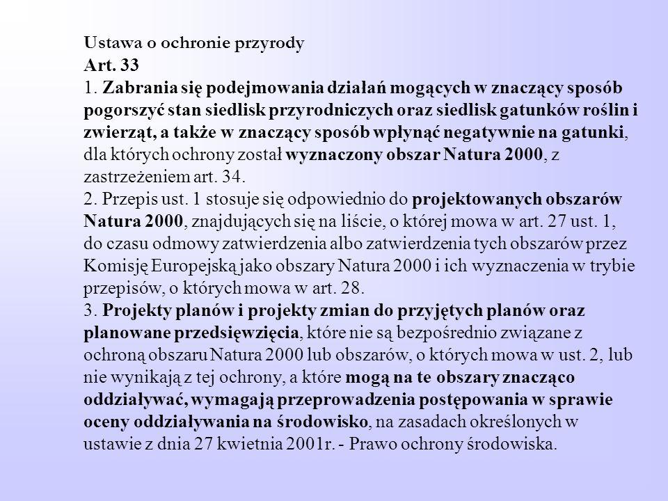 Ustawa o ochronie przyrody Art. 33 1