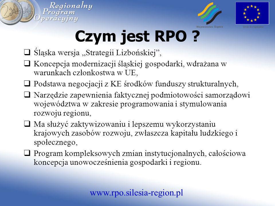 """Czym jest RPO Śląska wersja """"Strategii Lizbońskiej ,"""