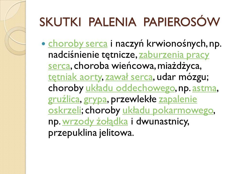 SKUTKI PALENIA PAPIEROSÓW