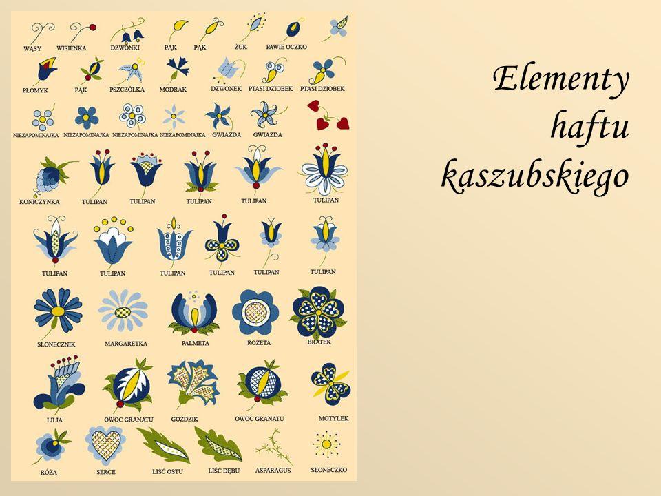 Elementy haftu kaszubskiego