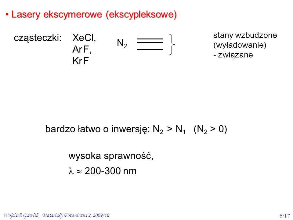 Lasery ekscymerowe (ekscypleksowe)