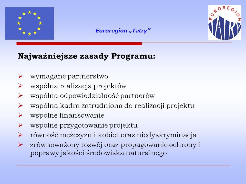 Najważniejsze zasady Programu: