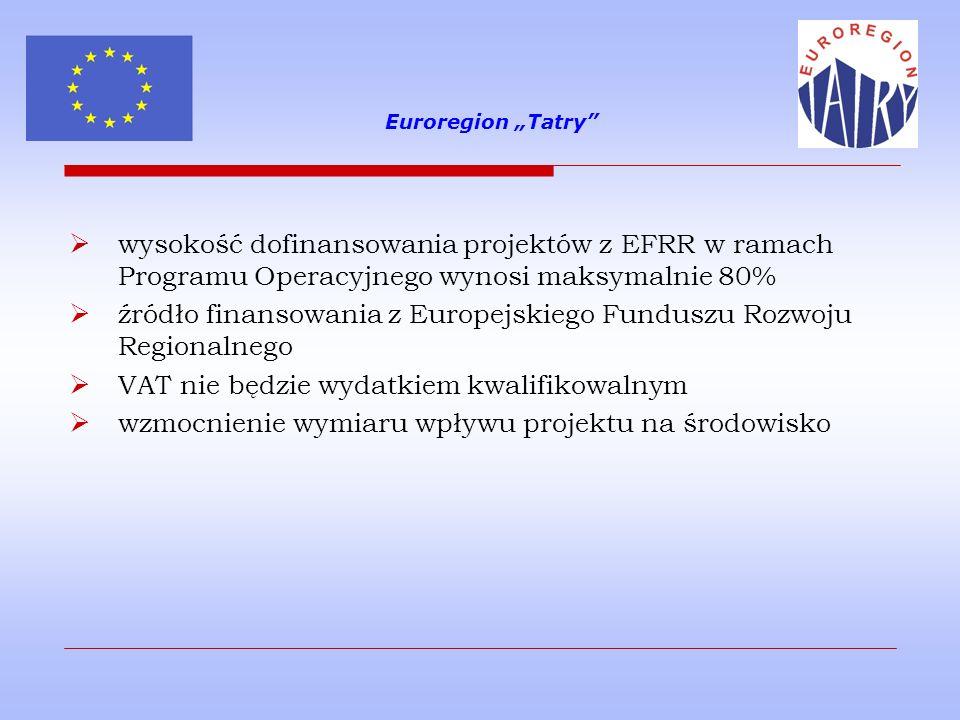 źródło finansowania z Europejskiego Funduszu Rozwoju Regionalnego