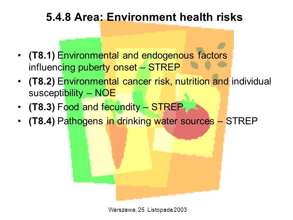 5.4.8 Area: Environment health risks