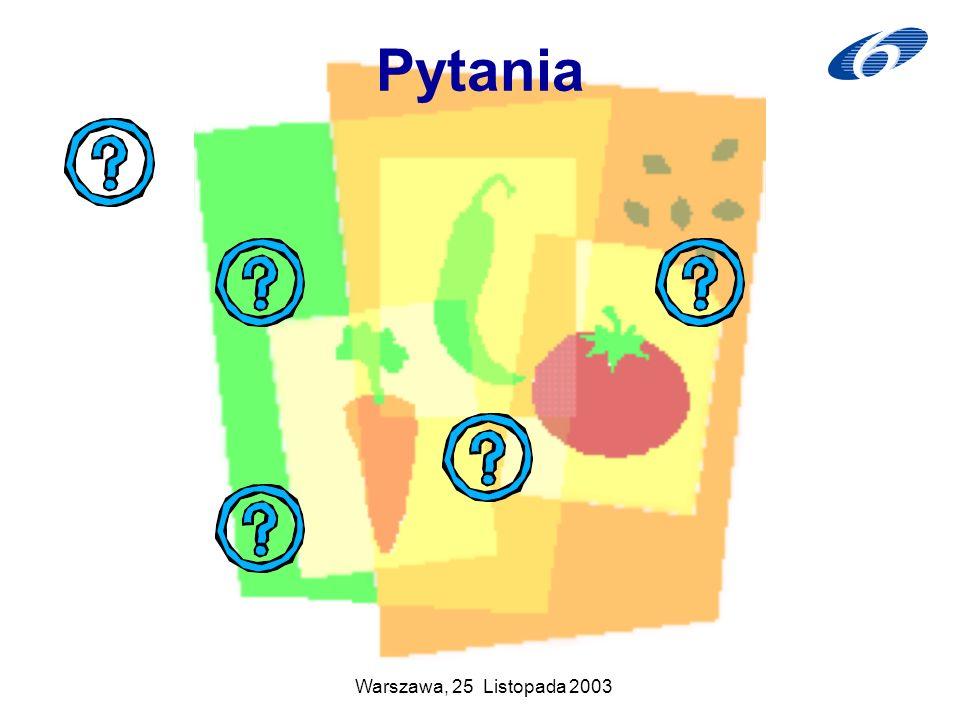Pytania Warszawa, 25 Listopada 2003