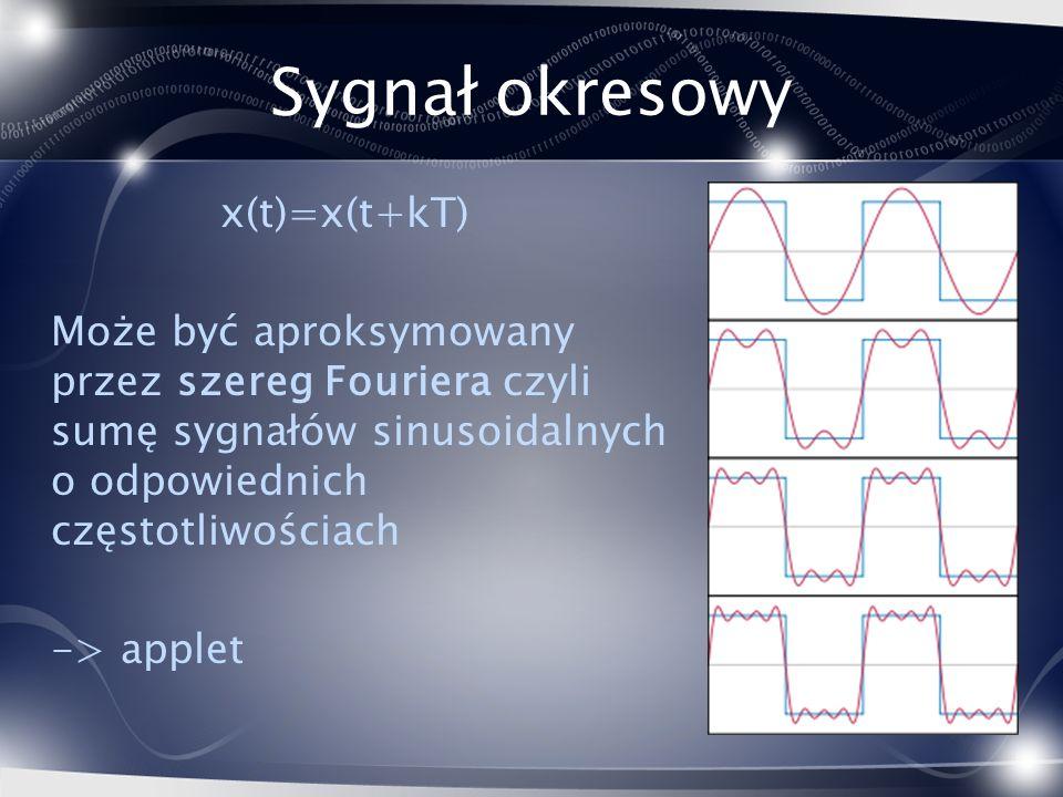 Sygnał okresowy x(t)=x(t+kT)