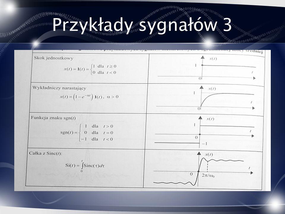 Przykłady sygnałów 3