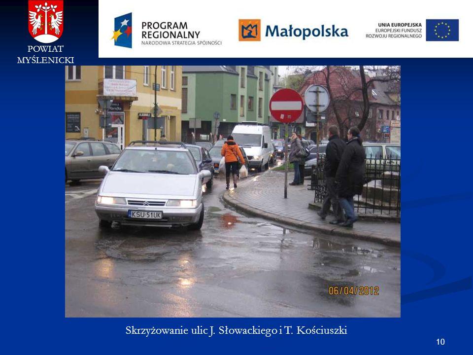 Skrzyżowanie ulic J. Słowackiego i T. Kościuszki