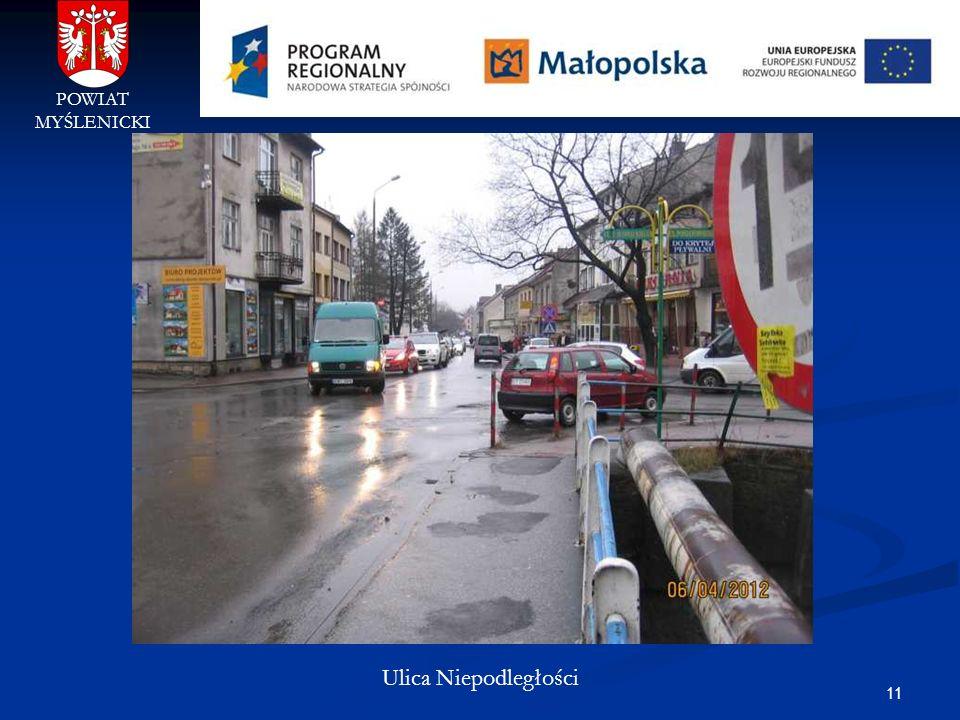 POWIAT MYŚLENICKI Ulica Niepodległości
