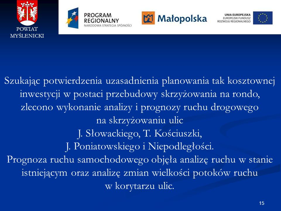 J. Słowackiego, T. Kościuszki, J. Poniatowskiego i Niepodległości.
