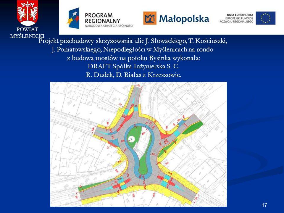 Projekt przebudowy skrzyżowania ulic J. Słowackiego, T. Kościuszki,