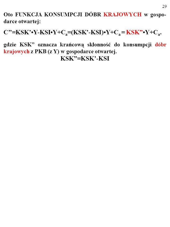 C''=KSK'•Y-KSI•Y+Ca=(KSK'-KSI)•Y+Ca = KSK •Y+Ca.