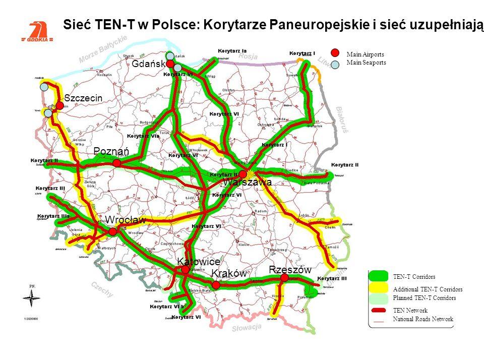 Sieć TEN-T w Polsce: Korytarze Paneuropejskie i sieć uzupełniająca
