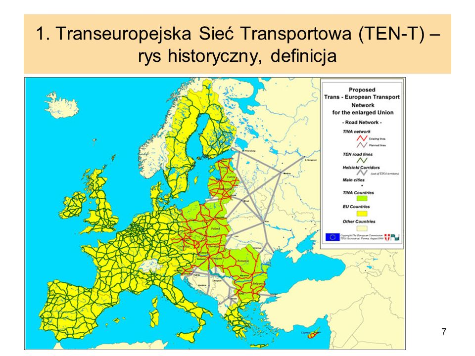 1. Transeuropejska Sieć Transportowa (TEN-T) – rys historyczny, definicja