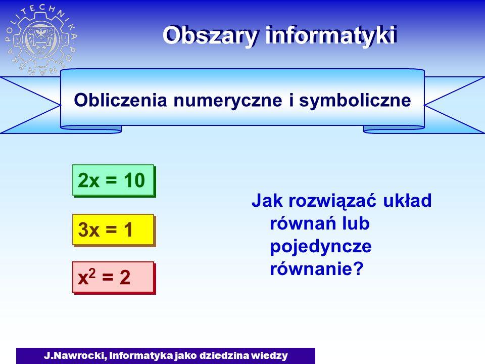 Obliczenia numeryczne i symboliczne