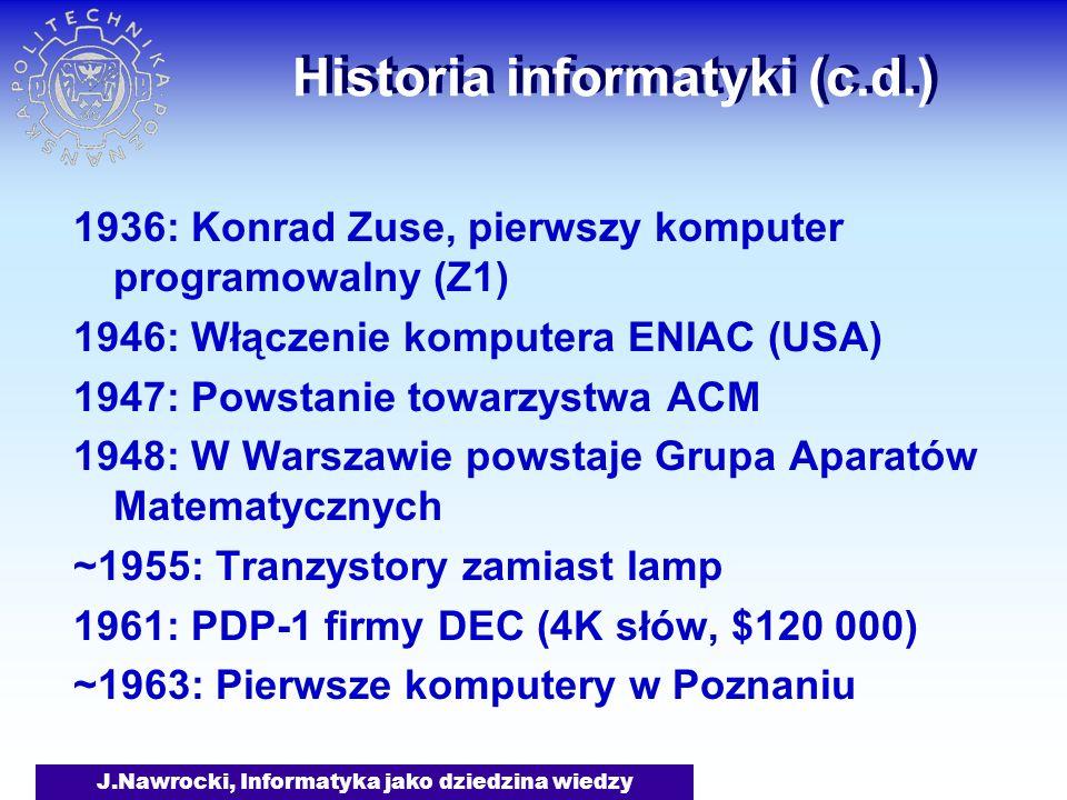 Historia informatyki (c.d.)