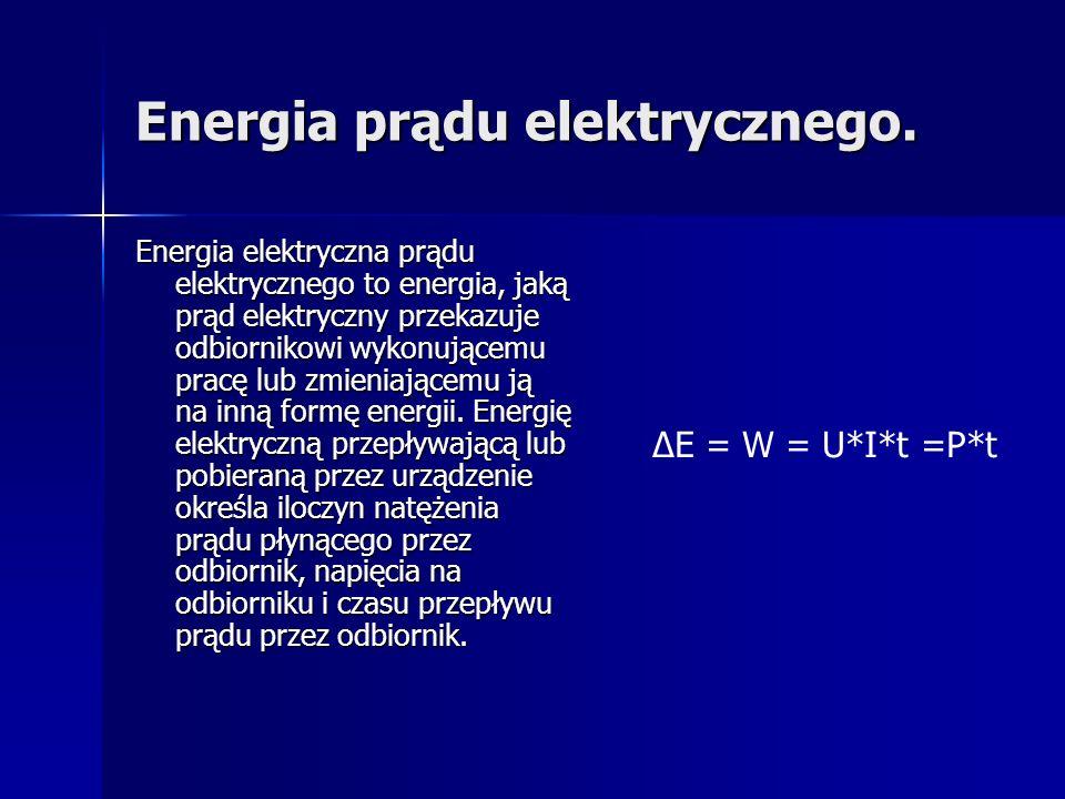 Energia prądu elektrycznego.