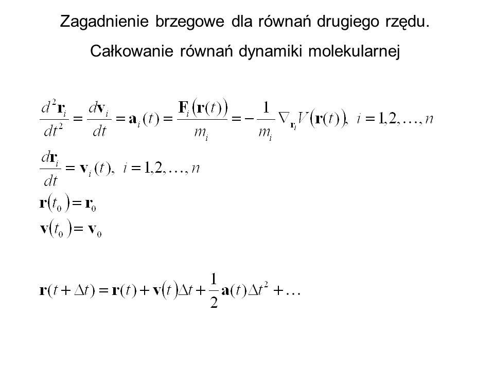 Zagadnienie brzegowe dla równań drugiego rzędu.