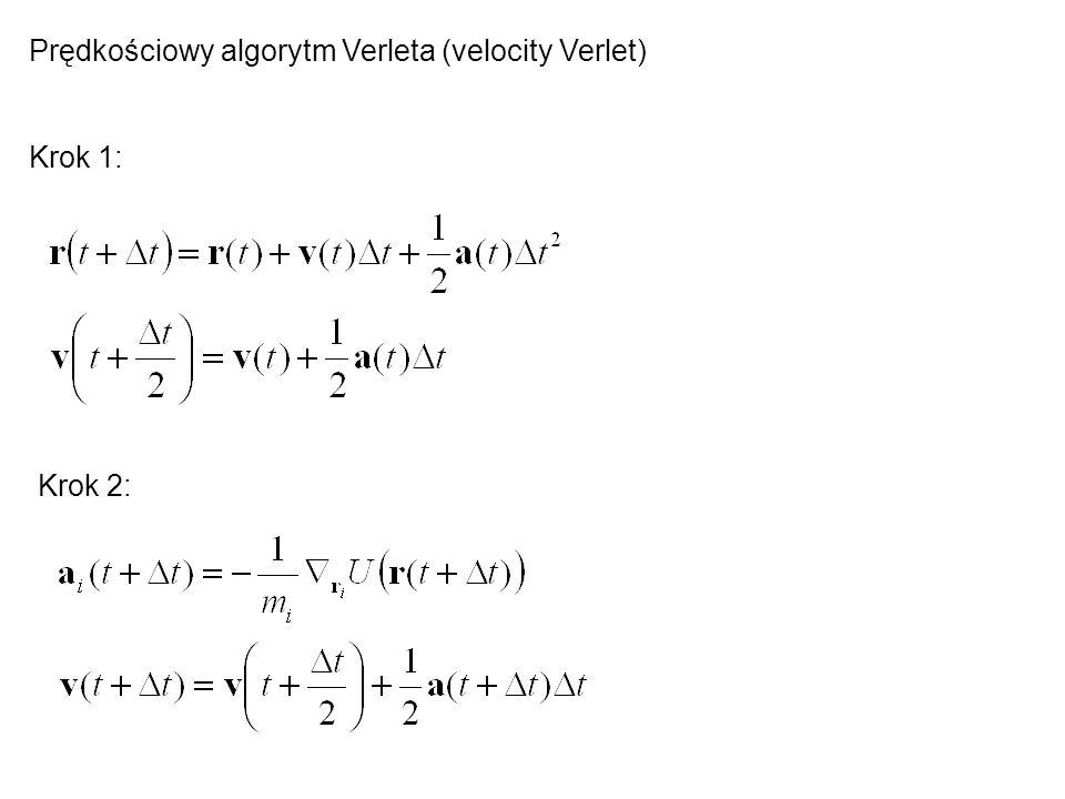 Prędkościowy algorytm Verleta (velocity Verlet)