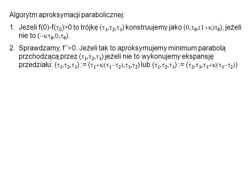 Algorytm aproksymacji parabolicznej: