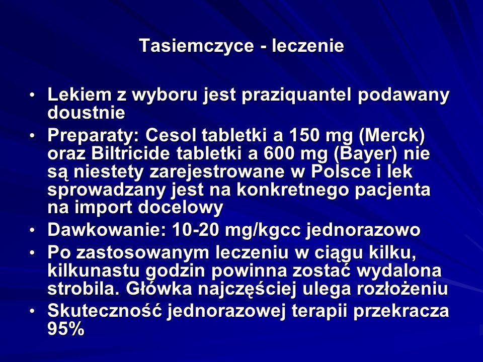 Tasiemczyce - leczenie
