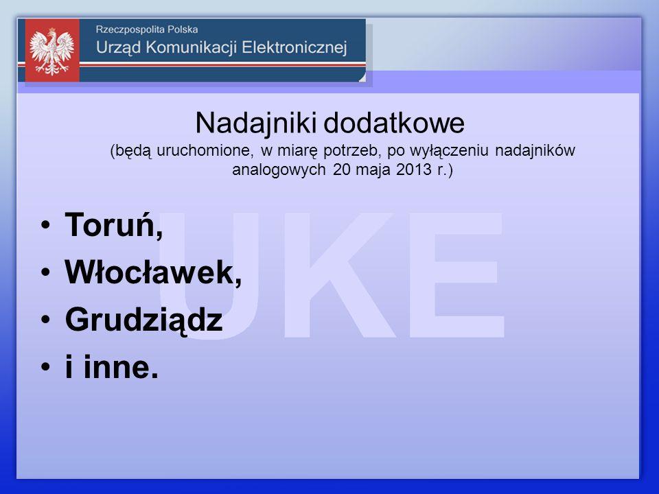 Toruń, Włocławek, Grudziądz i inne.