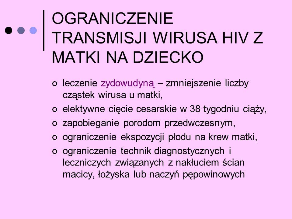 OGRANICZENIE TRANSMISJI WIRUSA HIV Z MATKI NA DZIECKO