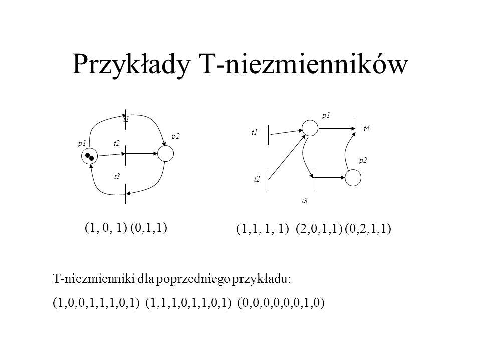 Przykłady T-niezmienników