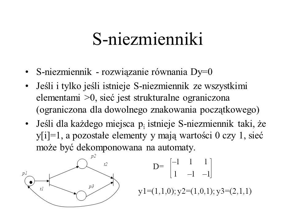 S-niezmienniki S-niezmiennik - rozwiązanie równania Dy=0