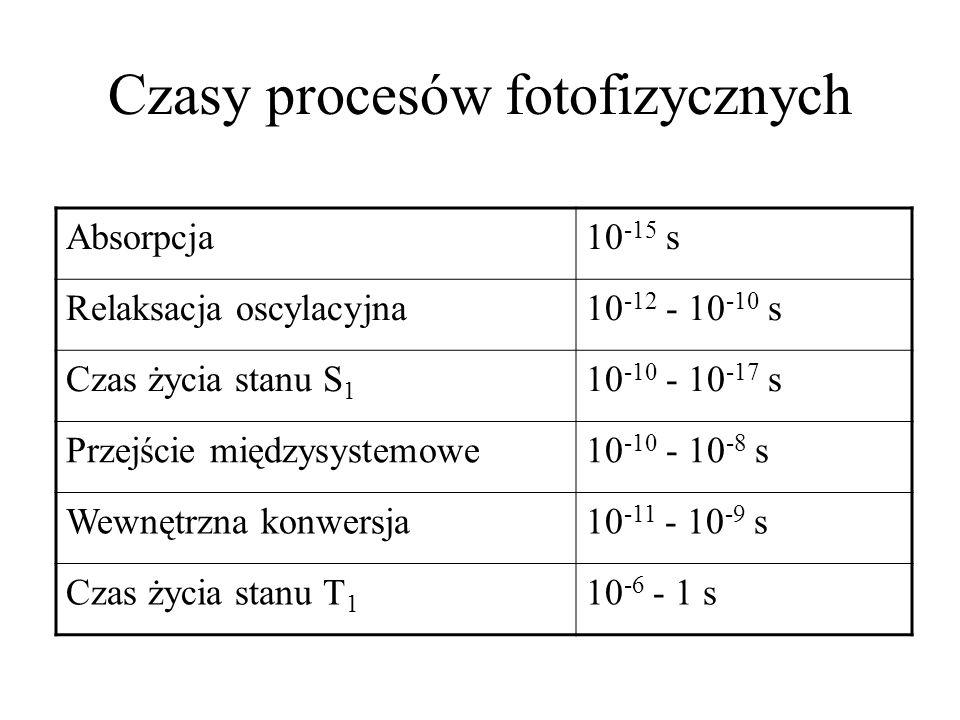 Czasy procesów fotofizycznych