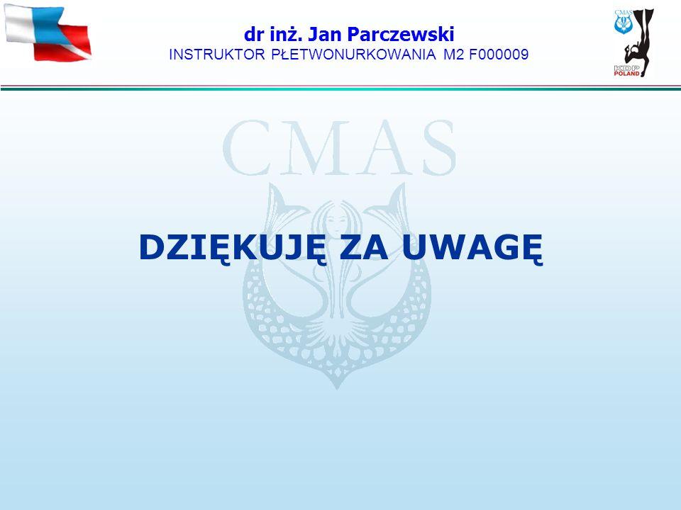 dr inż. Jan Parczewski INSTRUKTOR PŁETWONURKOWANIA M2 F000009