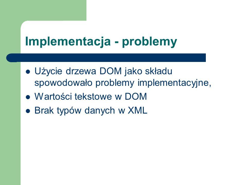 Implementacja - problemy