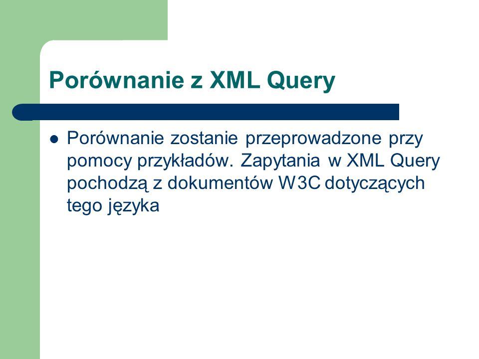 Porównanie z XML Query