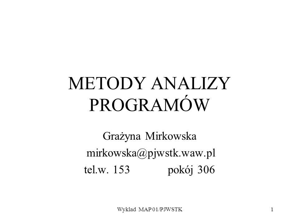 METODY ANALIZY PROGRAMÓW