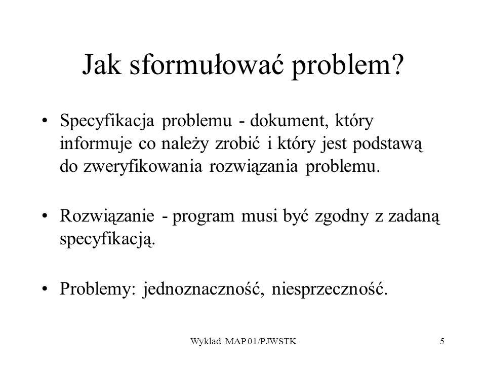 Jak sformułować problem