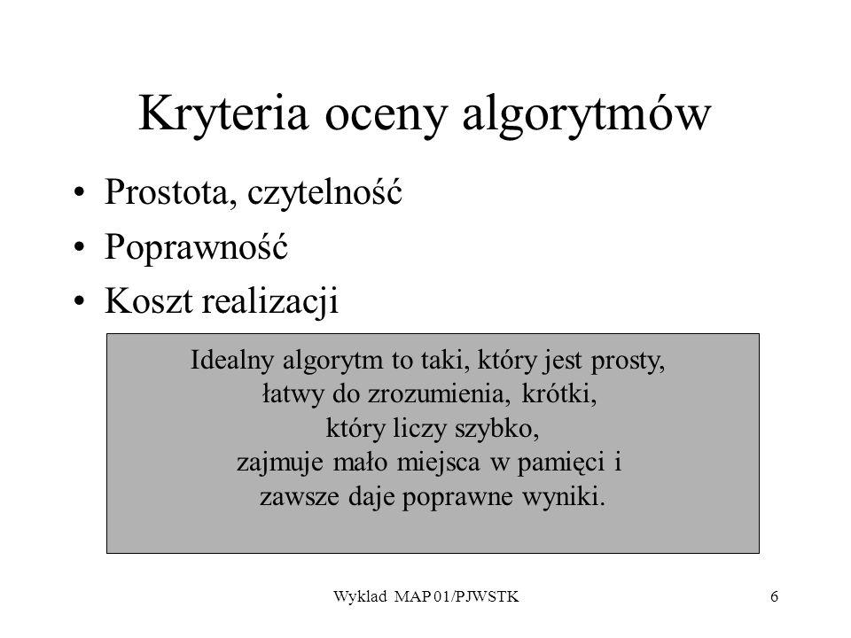 Kryteria oceny algorytmów