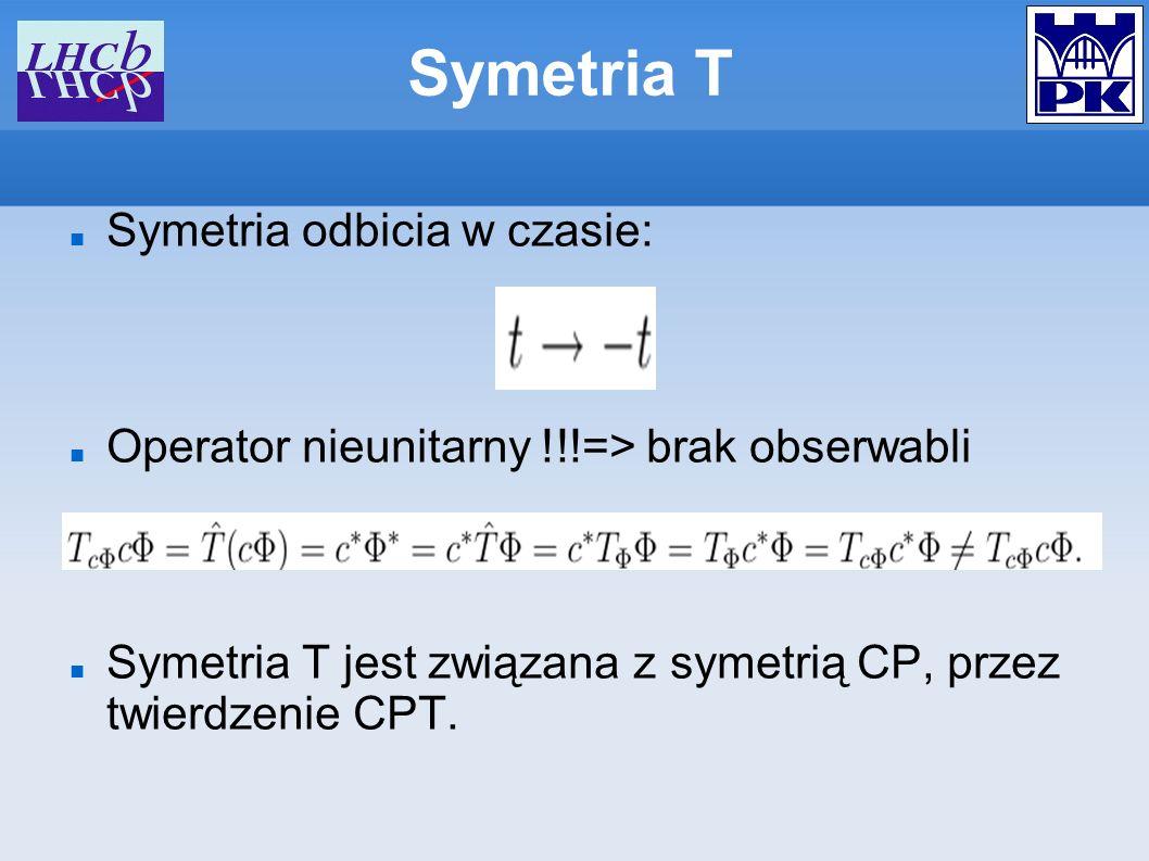 Symetria T Symetria odbicia w czasie: