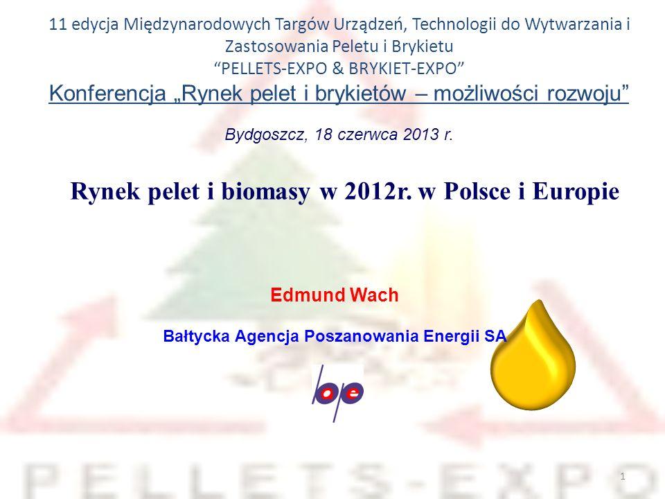 Rynek pelet i biomasy w 2012r. w Polsce i Europie
