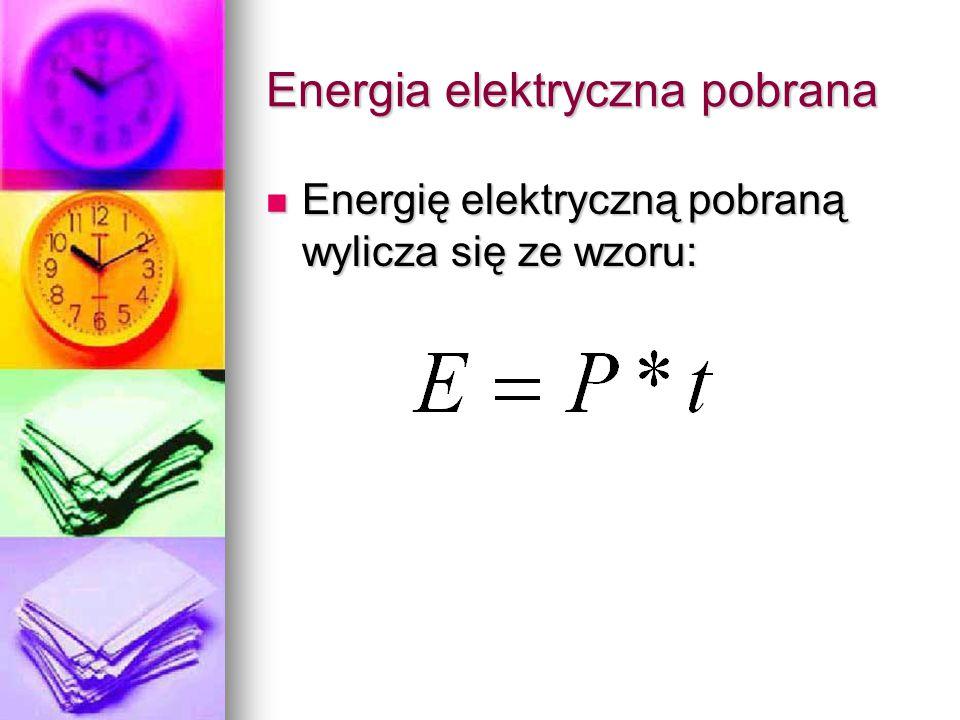 Energia elektryczna pobrana