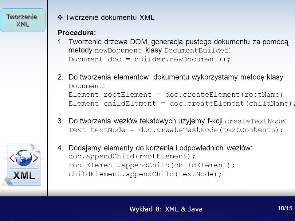 Tworzenie dokumentu XML