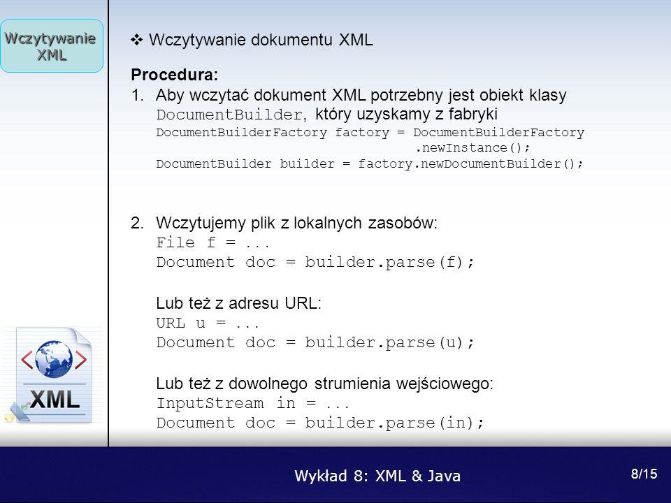 Wczytywanie dokumentu XML