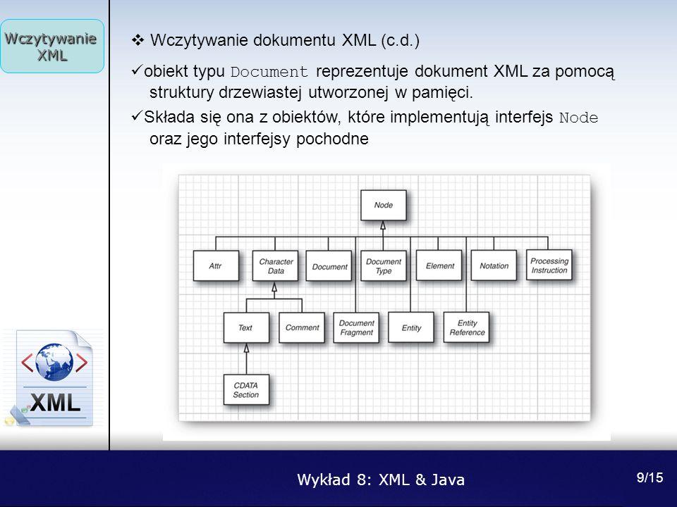 Wczytywanie dokumentu XML (c.d.)