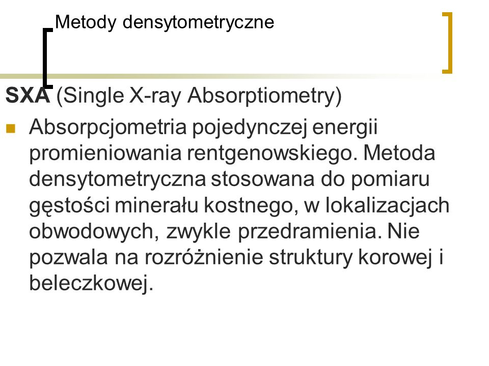 Metody densytometryczne