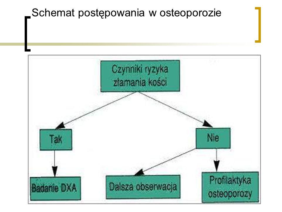 Schemat postępowania w osteoporozie