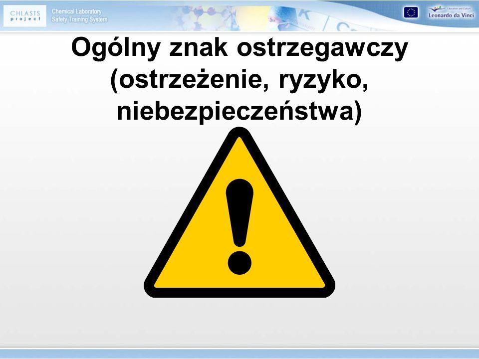Ogólny znak ostrzegawczy (ostrzeżenie, ryzyko, niebezpieczeństwa)