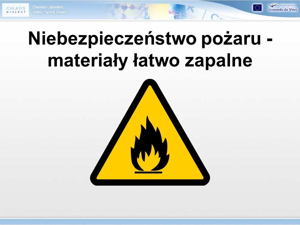 Niebezpieczeństwo pożaru - materiały łatwo zapalne